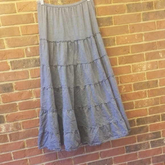 Style & Co Dresses & Skirts - Style&co chambray boho maxi skirt